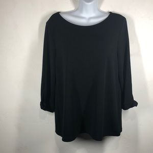 Chico's Easywear black top size Chico's 1/M